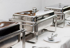 stainless steel buffet container